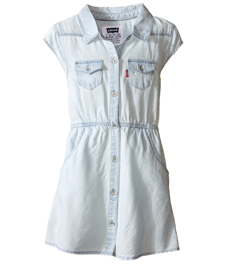 Levi's(r) Kids - Open Road Short Sleeve Woven Dress (Little Kids) (Ultra Light) Girl's Dress