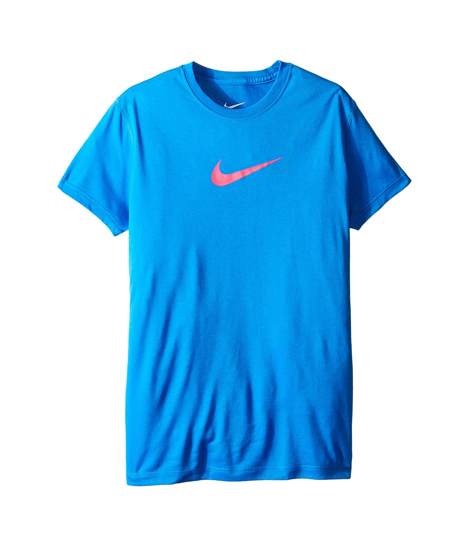 Nike Kids - Legend Training Tee (Little Kids/Big Kids) (Photo Blue/Hyper Pink) Girl's Workout