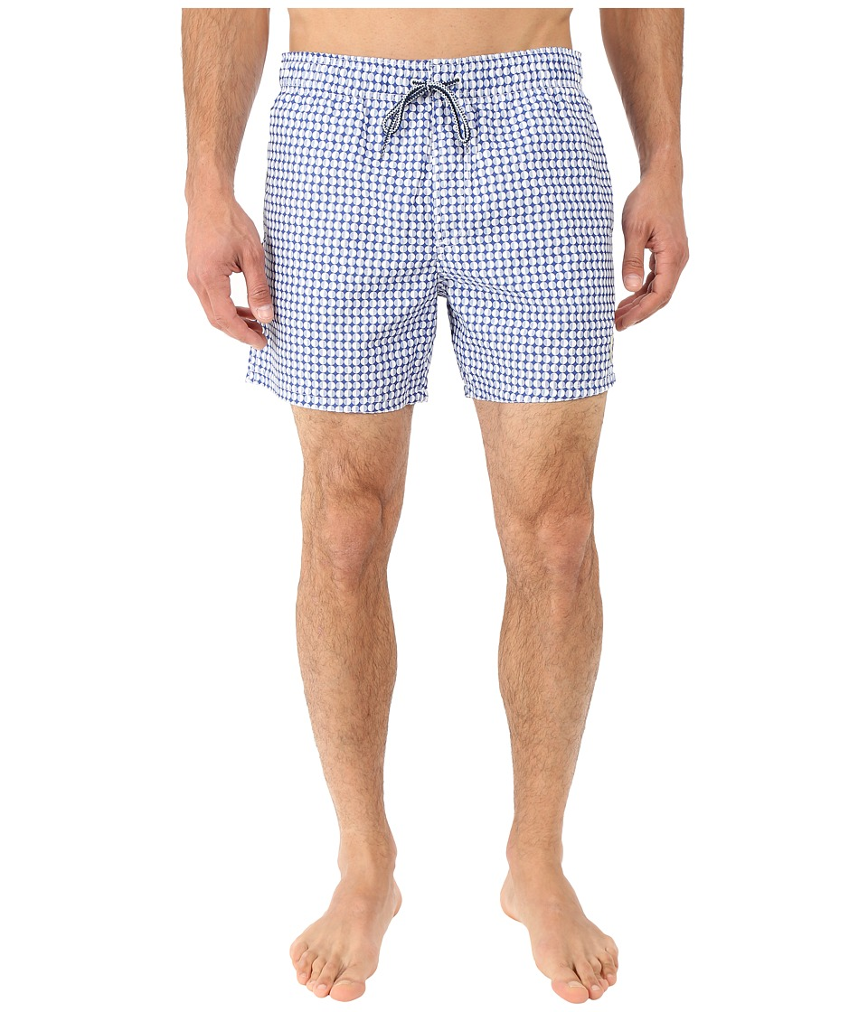 Ted Baker - Raqball Semi Plain Dot Shortti (Blue) Men's Swimwear