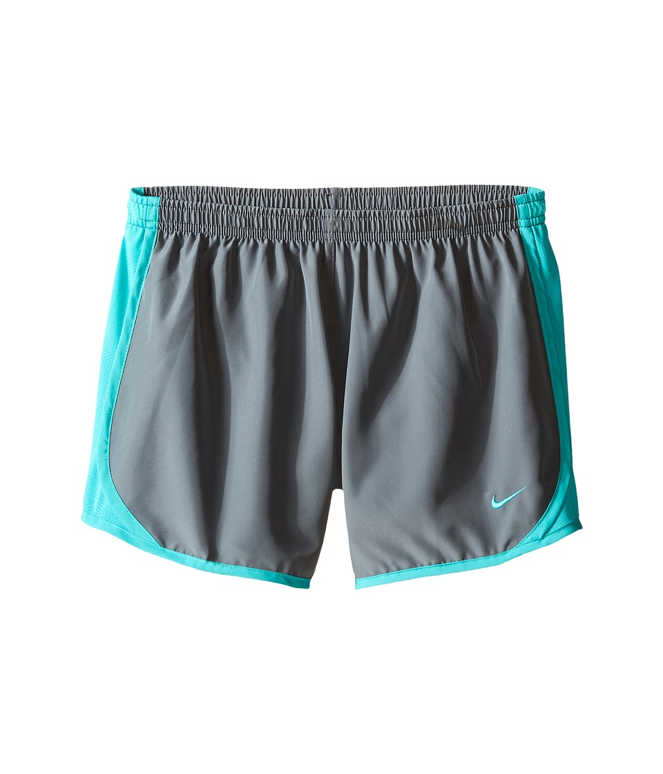 Nike Kids - Tempo Short (Little Kids/Big Kids) (Cool Grey/Hyper Jade/Hyper Jade) Girl's Shorts