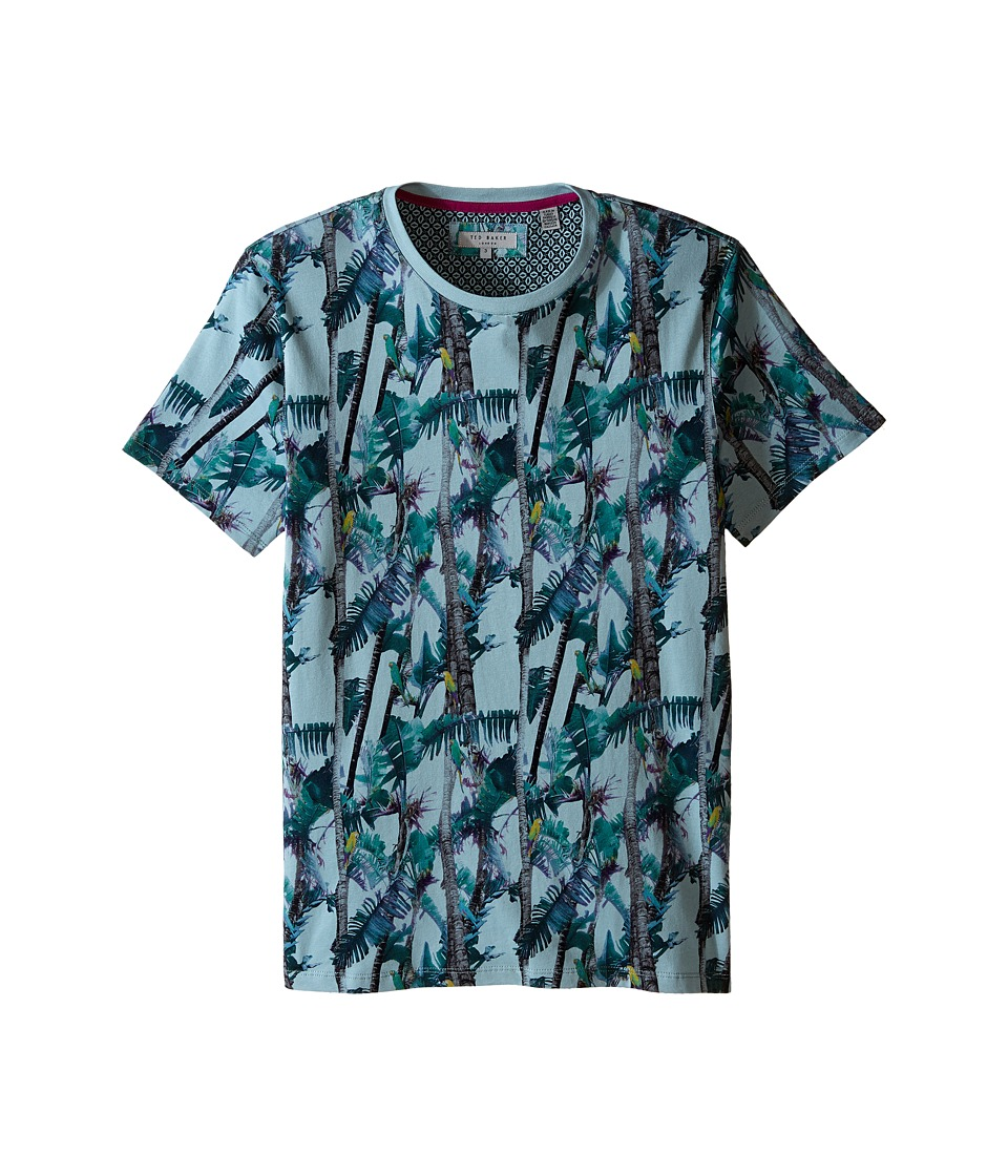 Ted Baker - Twistay Tree and Parrot Printed T-Shirt (Light Green) Men