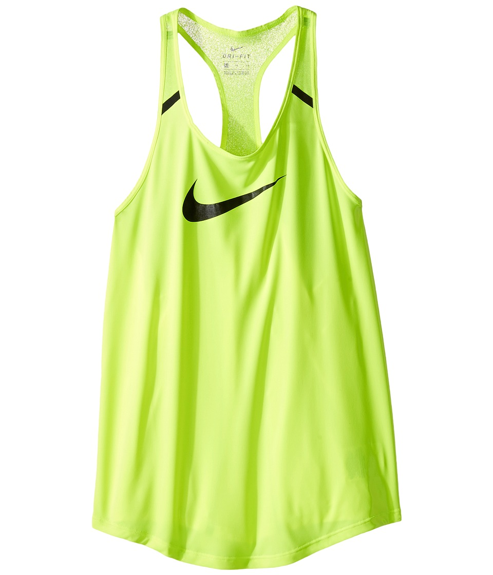 Nike Kids - Flow Training Tank Top (Little Kids/Big Kids) (Volt/Volt/Black/Black) Girl's Sleeveless