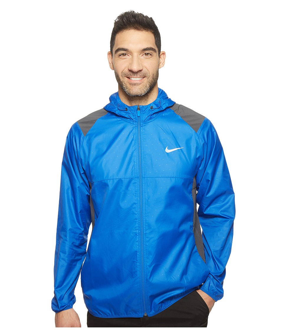 Nike - Printed Packable Hooded Jacket (Game Royal/Reflective Silver) Men's Coat
