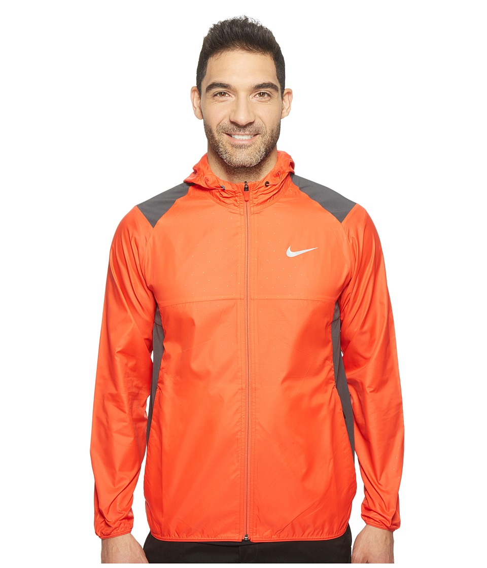 Nike - Printed Packable Hooded Jacket (Light Crimson/Reflective Silver) Men's Coat