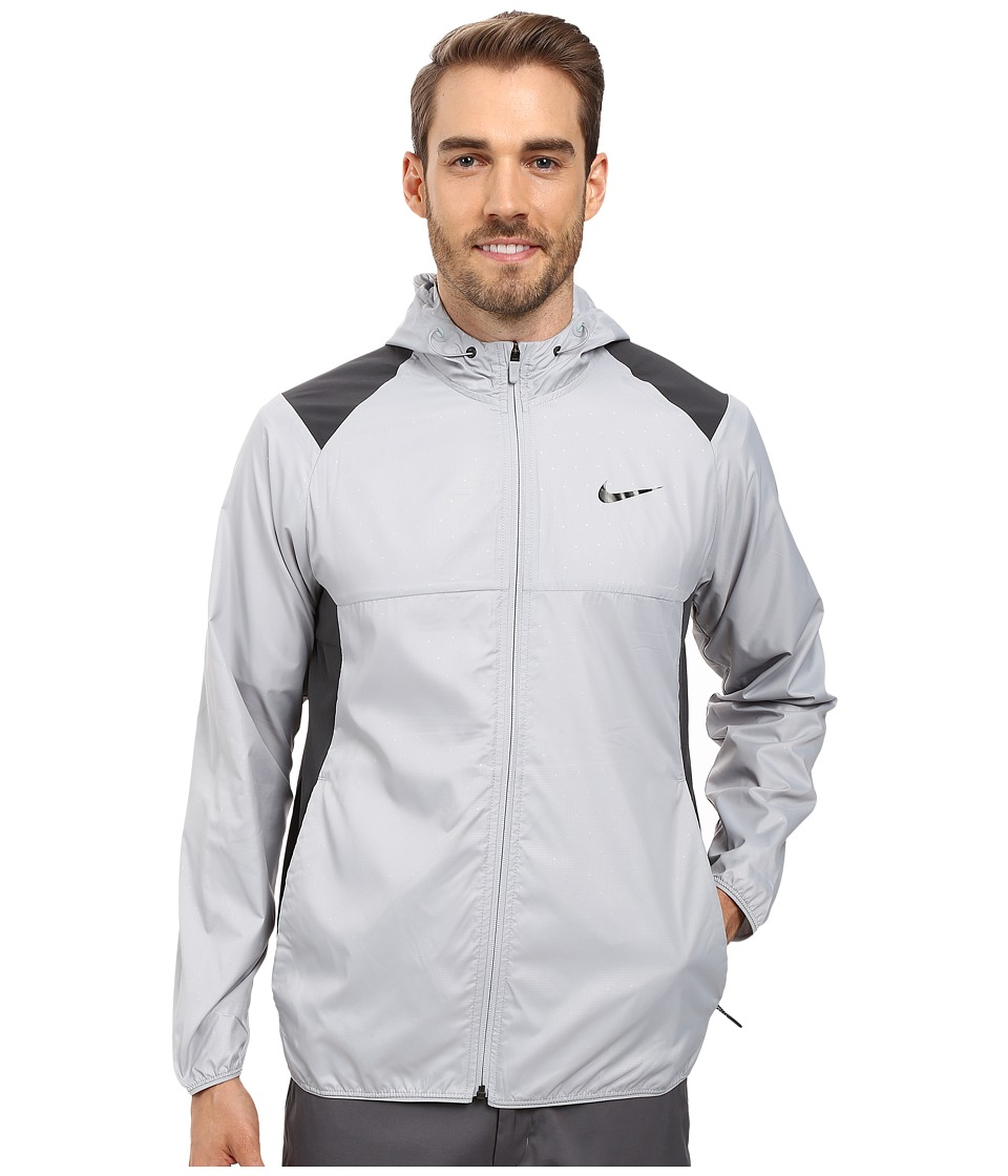 Nike - Printed Packable Hooded Jacket (Wolf Grey/Reflective Silver) Men's Coat