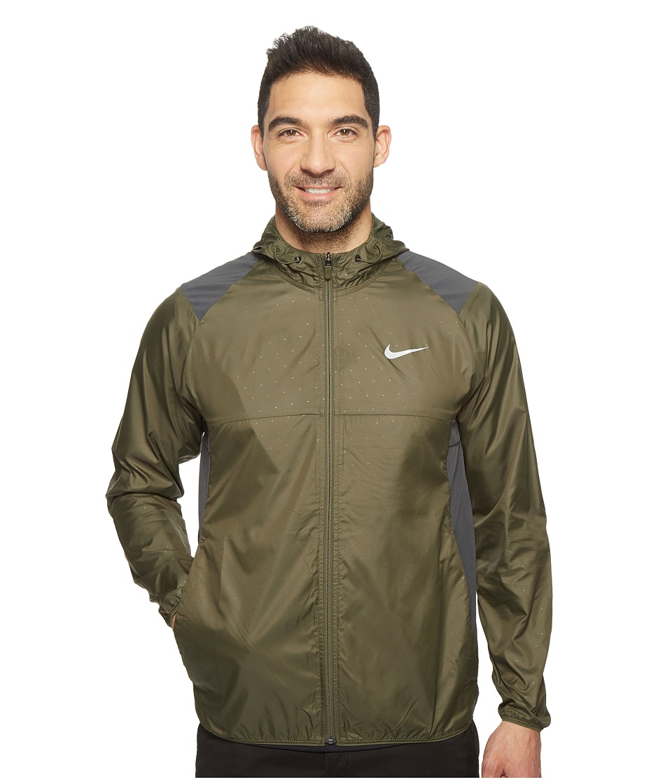 Nike - Printed Packable Hooded Jacket (Cargo Khaki/Reflective Silver) Men's Coat