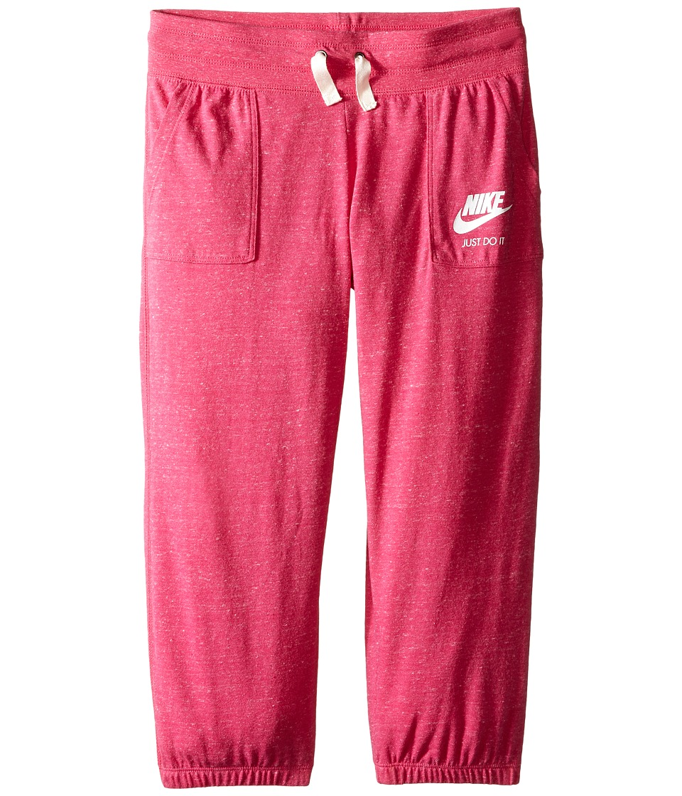 Nike Kids - Sportswear Gym Vintage Capri (Little Kids/Big Kids) (Vivid Pink/Sail) Girl's Capri