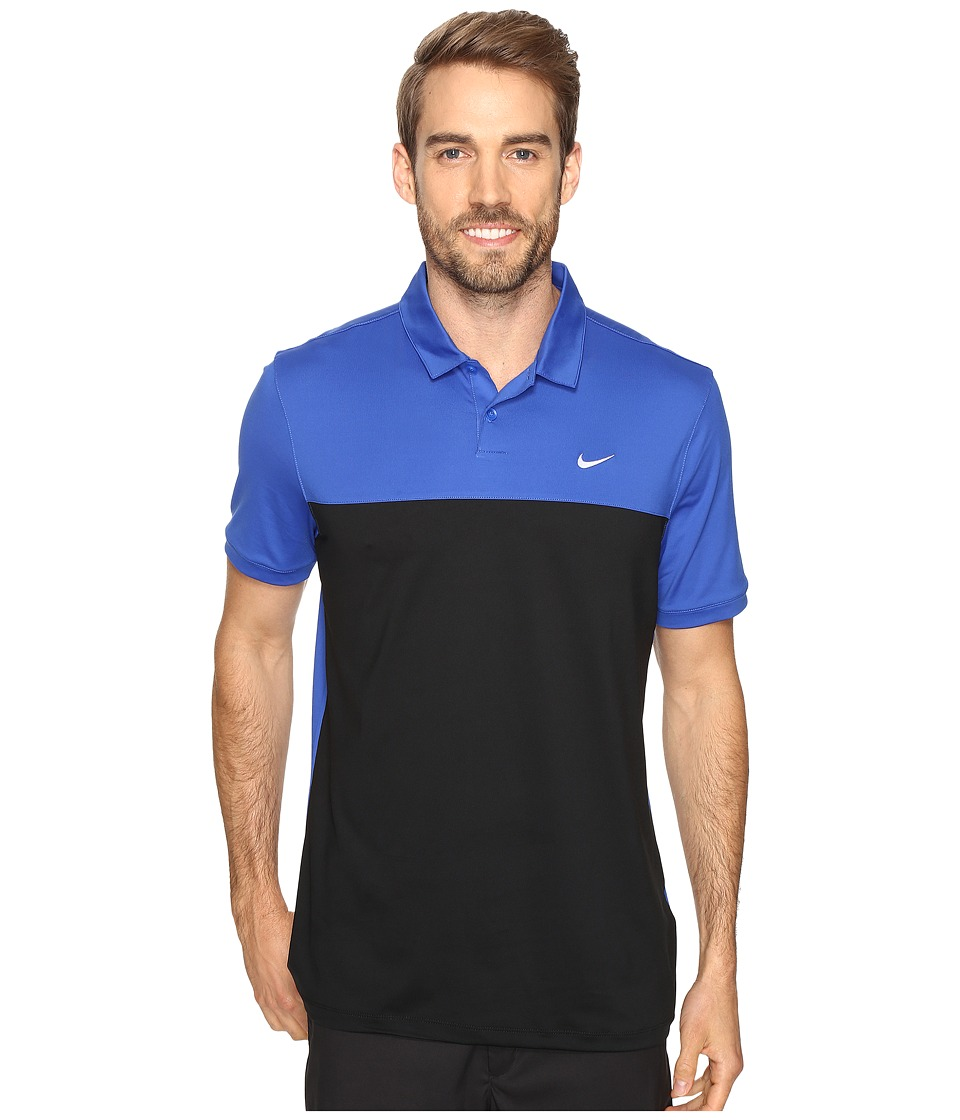 Nike - Icon Color Block Polo (Game Royal/Black/White) Men's Short Sleeve Pullover