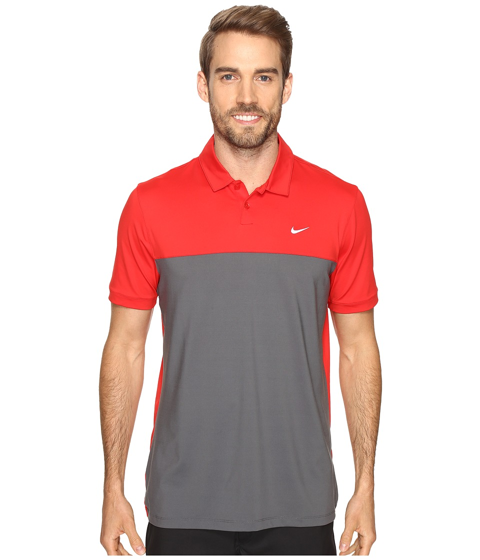 Nike - Icon Color Block Polo (University Red/Dark Grey/White) Men's Short Sleeve Pullover
