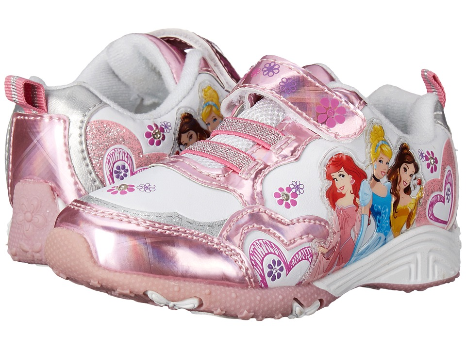 Josmo Kids Princess Sneaker (Toddler/Little Kid) (Pink Metallic/White) Girls Shoes