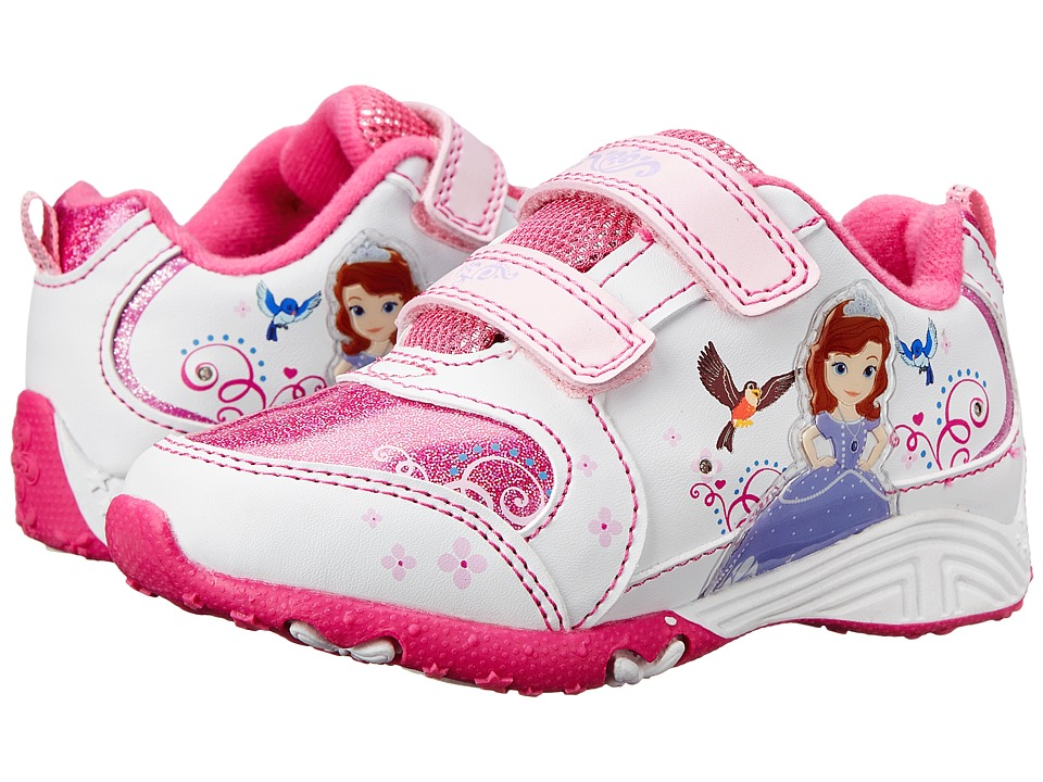 Josmo Kids Sophia Sneaker (Toddler/Little Kid) (White/Pink) Girls Shoes