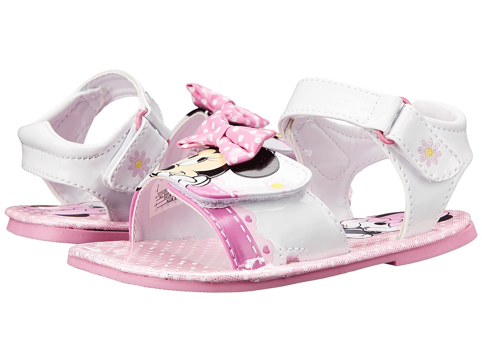 Josmo Kids - Minnie Sandal (Toddler/Little Kid) (White/Pink) Girls Shoes