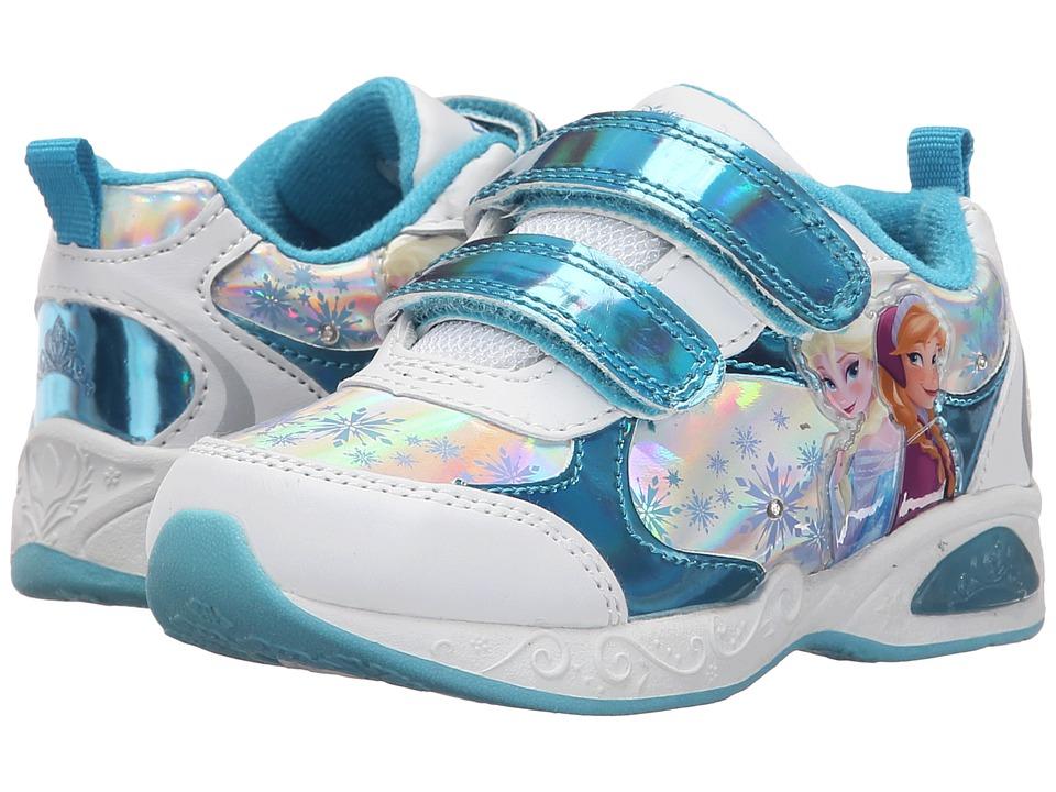 Josmo Kids Frozen Lighted Sneaker (Toddler/Little Kid) (Blue Metallic/White) Girls Shoes
