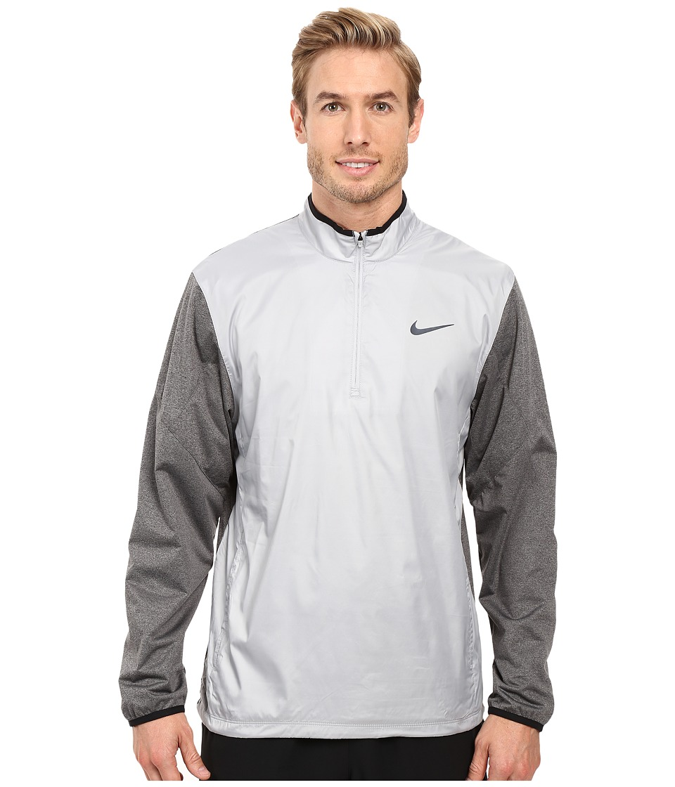 Nike Golf - 1/2 Zip Shield Top (Wolf Grey/Charcoal Heather/Wolf Grey/Reflective Silver) Men's Coat