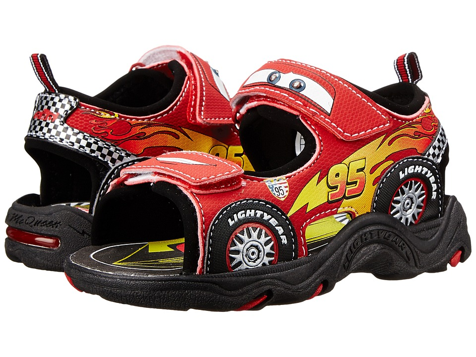 Josmo Kids - Cars Sandal (Toddler/Little Kid) (Black/Red) Boys Shoes