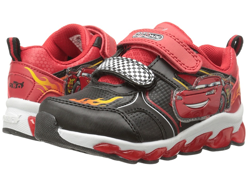 Josmo Kids - Cars Double Strap Sneaker (Toddler/Little Kid) (Black/Red) Boys Shoes