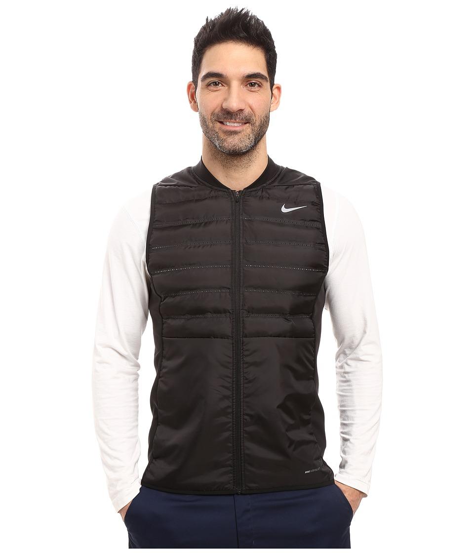 Nike Golf - Aeroloft Vest (Black/Black/Black/Reflective Silver) Men's Vest