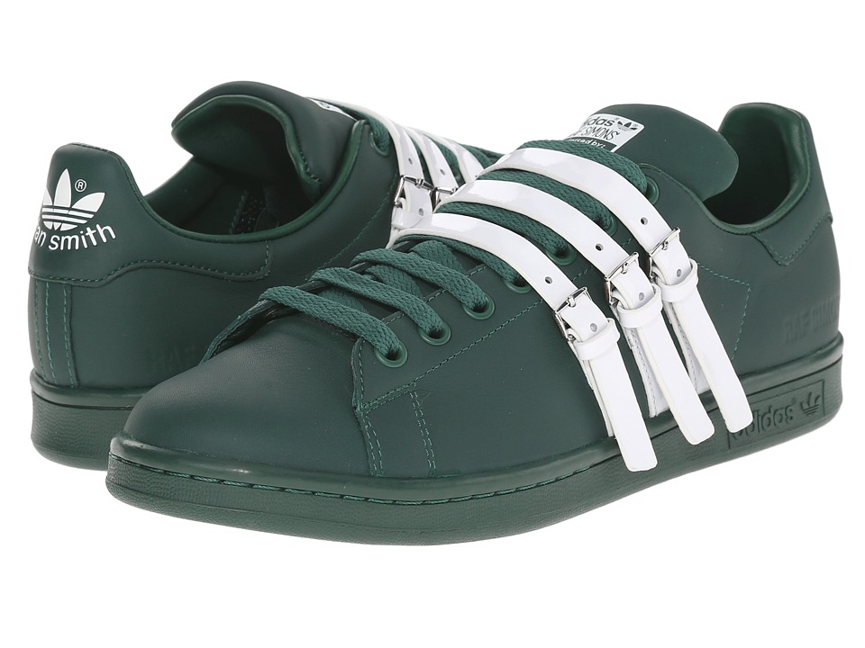 adidas by Raf Simons - Raf Simons Stan Smith Strap (Dark Green/Dark Green/Vintage White S15-ST) Men's Shoes