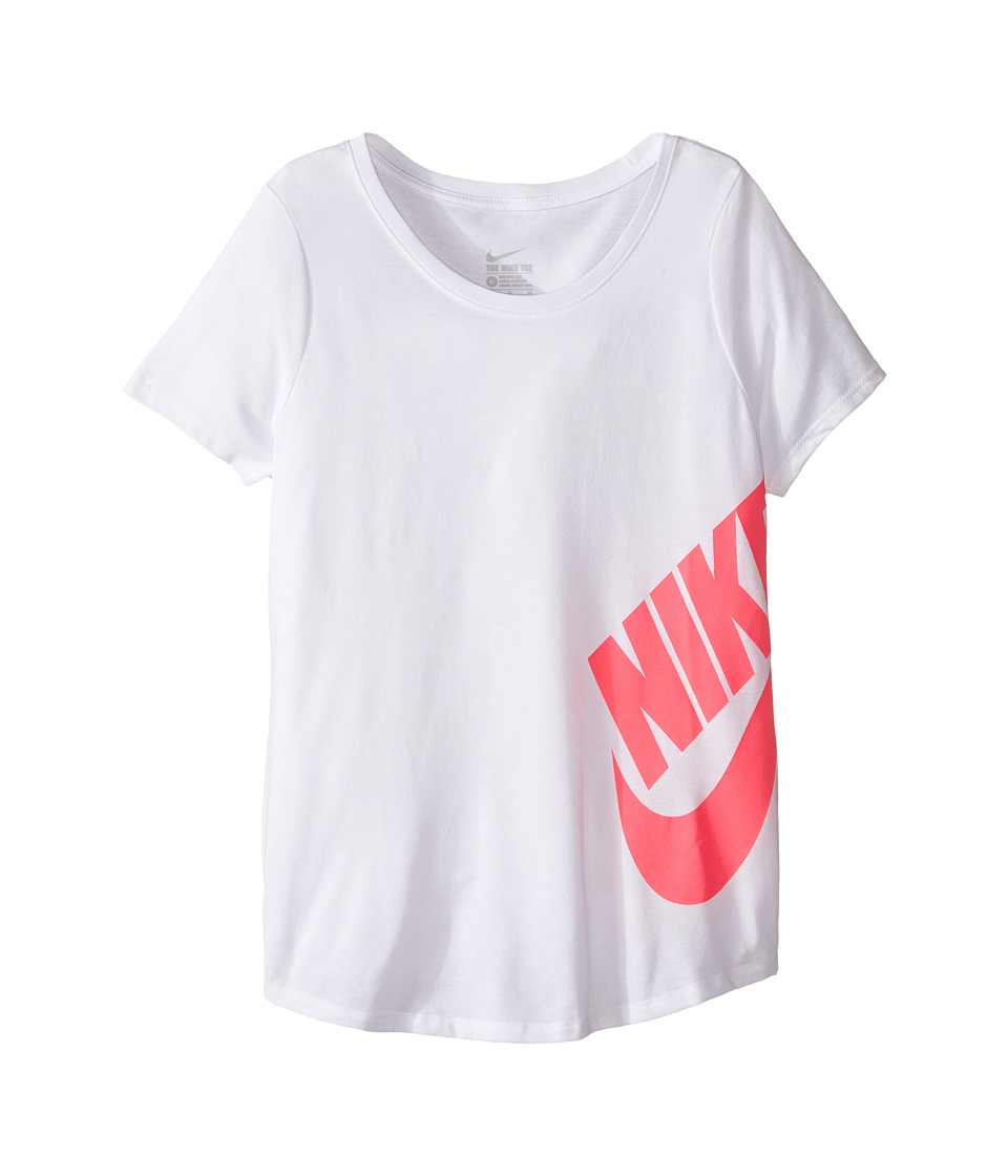 Nike Kids - Futura Training T-Shirt (Little Kid/Big Kid) (White) Girl's T Shirt