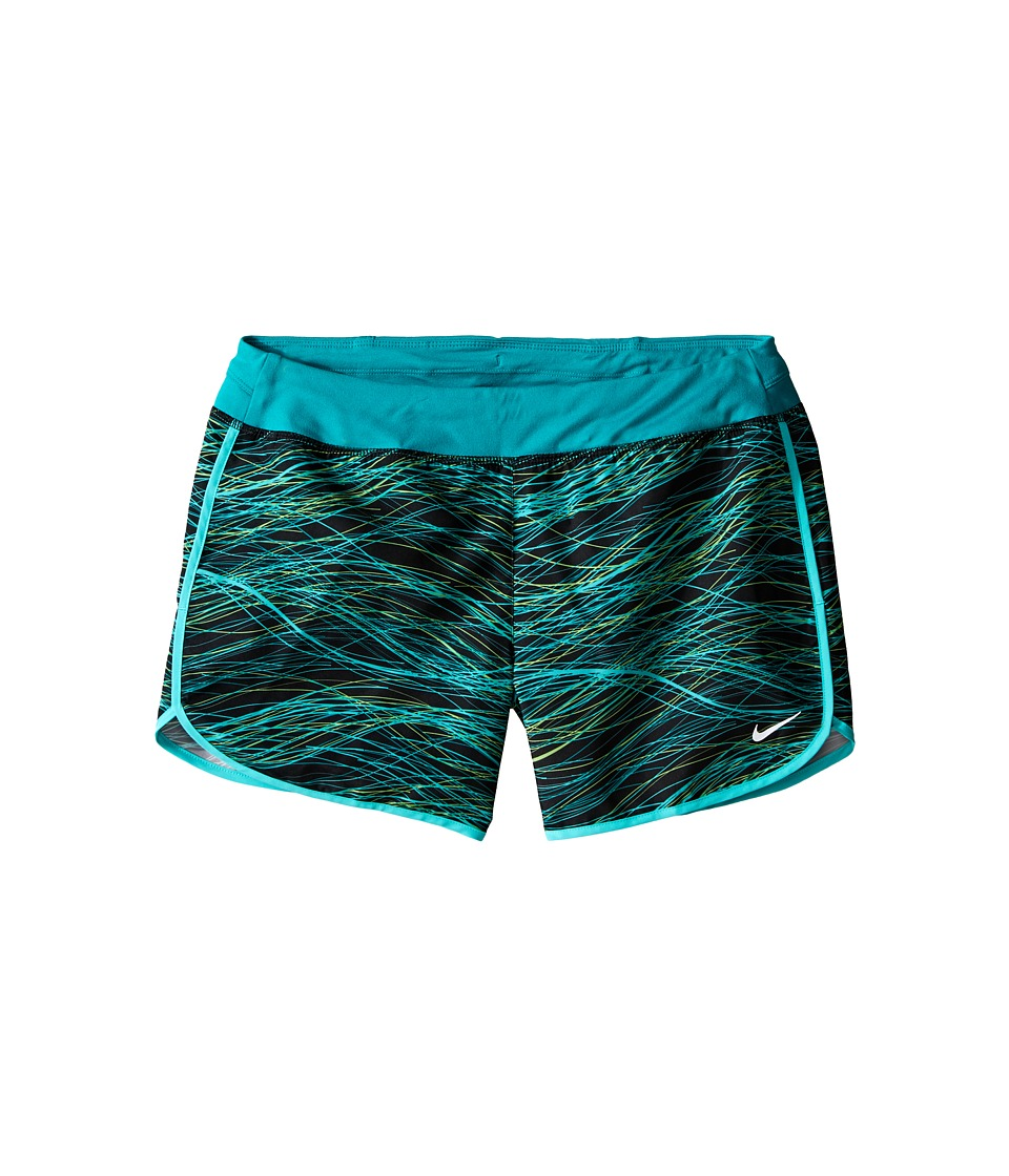 Nike Kids - Dry 3 Print Running Short (Little Kid/Big Kid) (Teal Charge/Teal Charge/Reflective Silver) Girl's Shorts