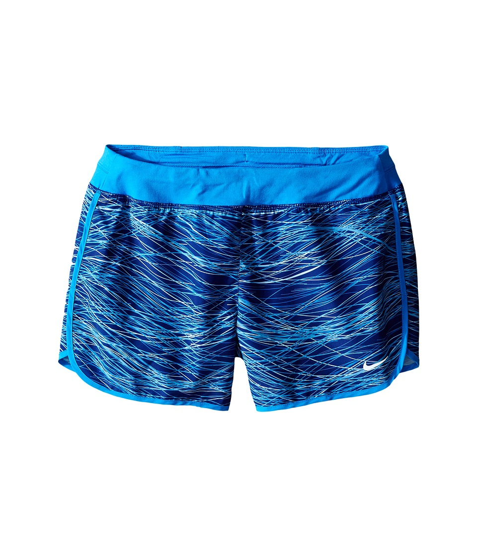 Nike Kids - Dry 3 Print Running Short (Little Kid/Big Kid) (Light Photo Blue/Reflective Silver) Girl's Shorts