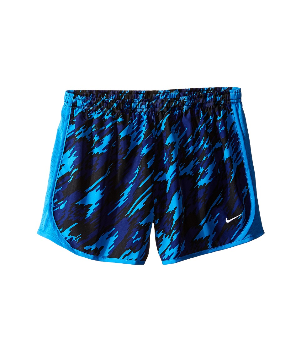 Nike Kids - Dry Tempo Running Short AOP2 (Little Kid/Big Kid) (Light Photo Blue/Light Photo Blue/White) Girl's Shorts
