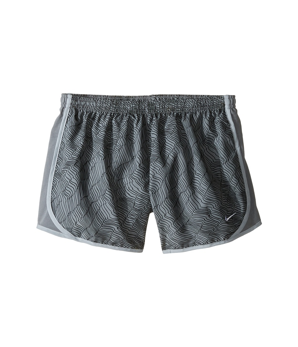 Nike Kids - Dry Tempo Running Short AOP6 (Little Kids/Big Kids) (Cool Grey/Cool Grey/Wolf Grey/White) Girl's Shorts