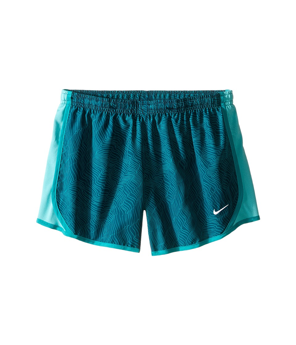 Nike Kids - Dry Tempo Running Short AOP6 (Little Kids/Big Kids) (Midnight Turquoise/Washed Teal/White) Girl's Shorts