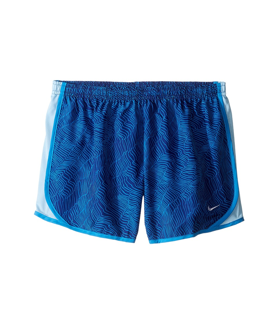 Nike Kids - Dry Tempo Running Short AOP6 (Little Kids/Big Kids) (Deep Royal Blue/Blue Cap/White) Girl's Shorts