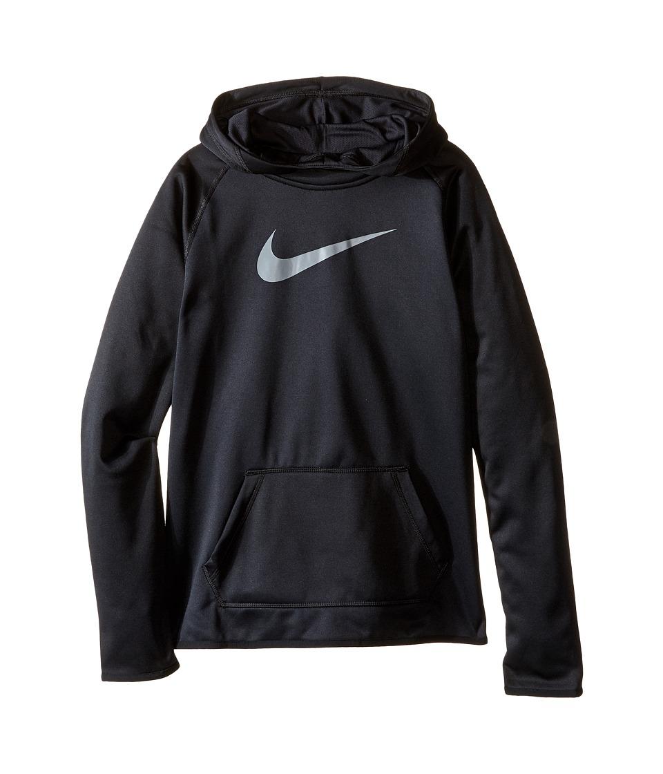 Nike Kids - Therma Training Hoodie (Little Kids/Big Kids) (Black/Black/Cool Grey) Girl's Sweatshirt