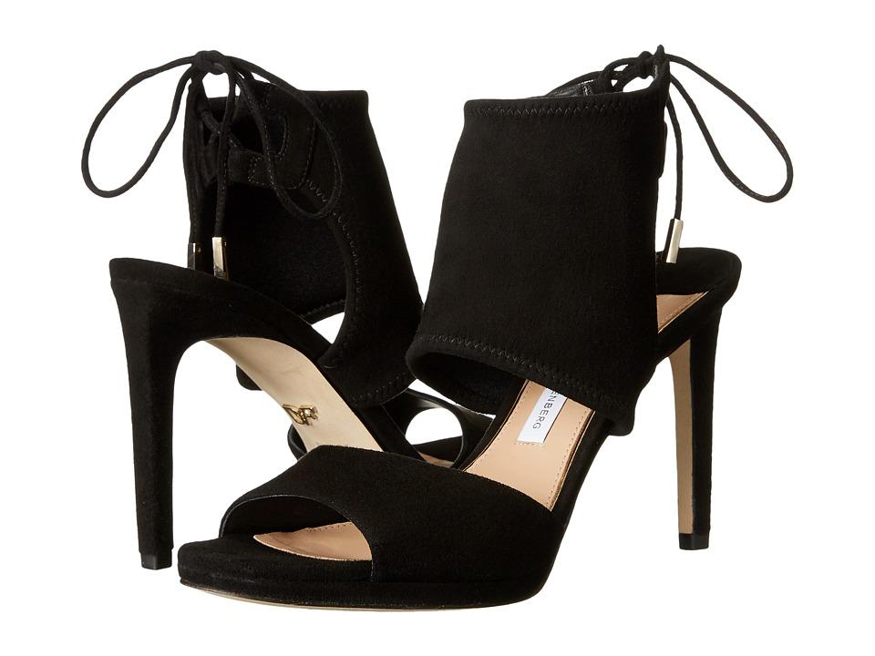 Diane von Furstenberg - Laie (Black Stretch Kid Suede) Women's Shoes