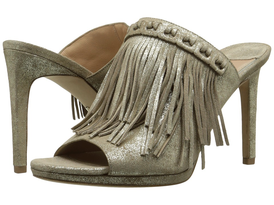 Diane von Furstenberg Langley Storm Glitter Metallic Suede Womens Shoes