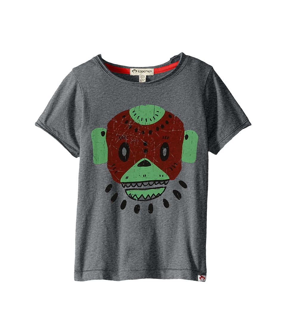 Appaman Kids - Super Soft Swamp Mask Graphic Tee (Toddler/Little Kids/Big Kids) (Light Grey Heather) Boy's T Shirt