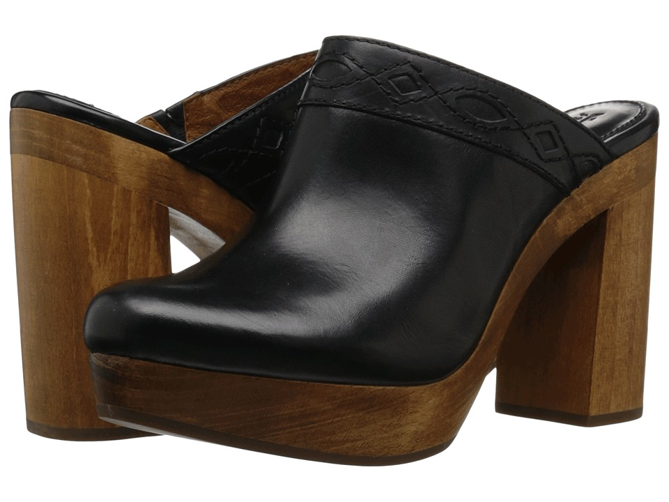 Frye - Emily Clog (Black Smooth Vintage Leather) Women's Clog Shoes