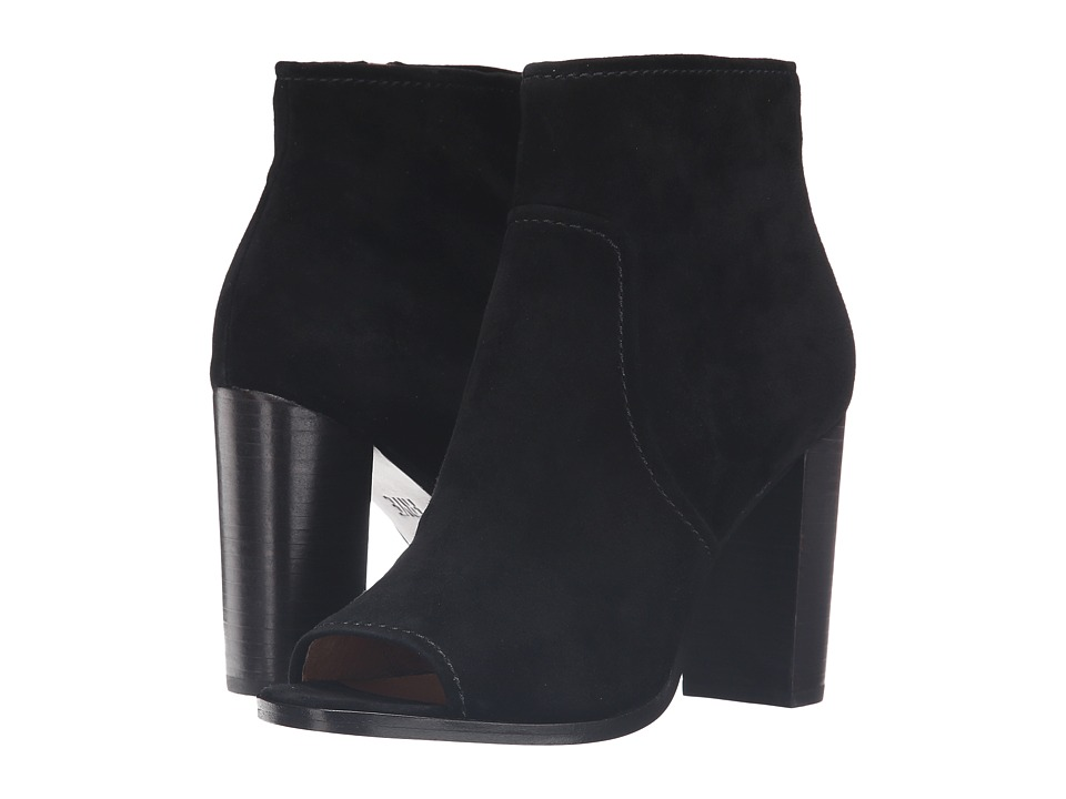Frye - Gabby Peep Toe Bootie (Black Suede) Women's Boots