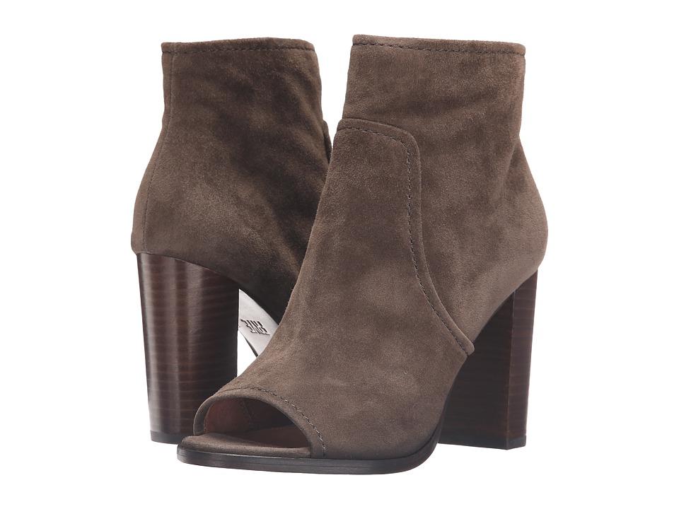Frye - Gabby Peep Toe Bootie (Dark Taupe Suede) Women's Boots