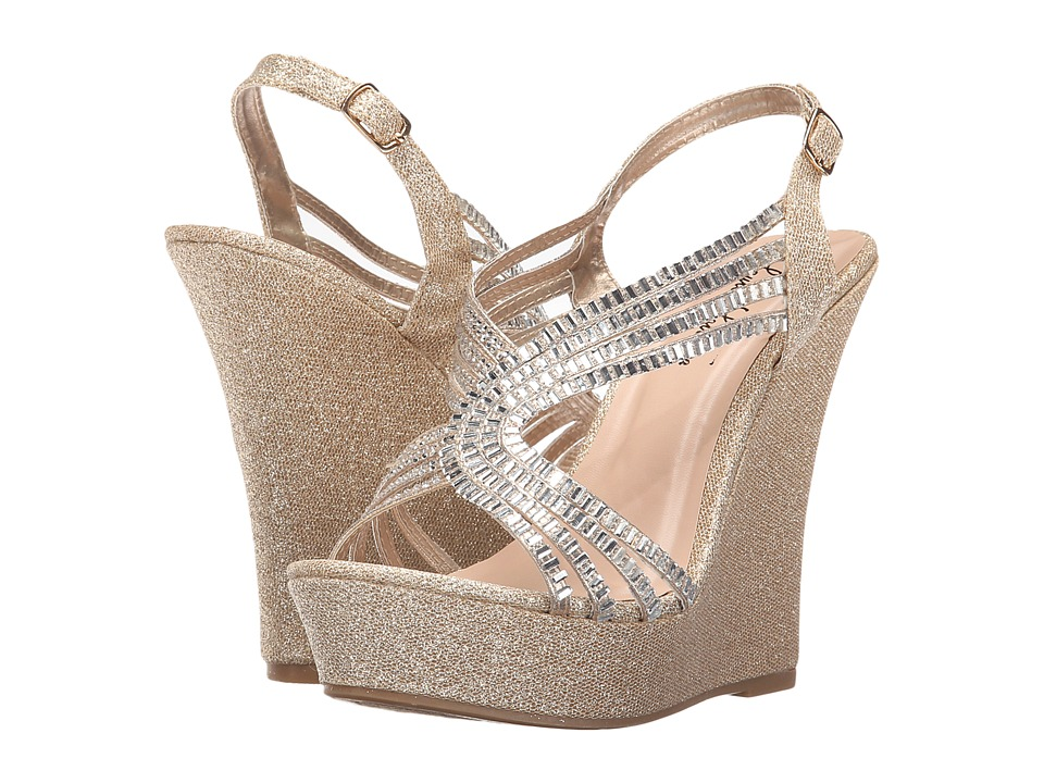 Lauren Lorraine - Nina (Nude) Women's Wedge Shoes