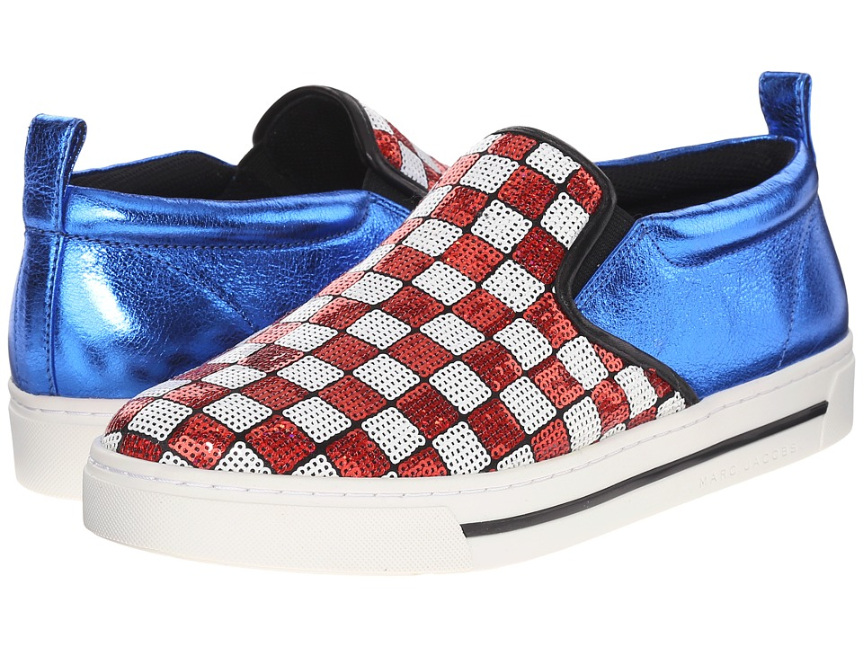 Marc Jacobs - Mercer Slip-On Skate Sneaker (Red/White) Women