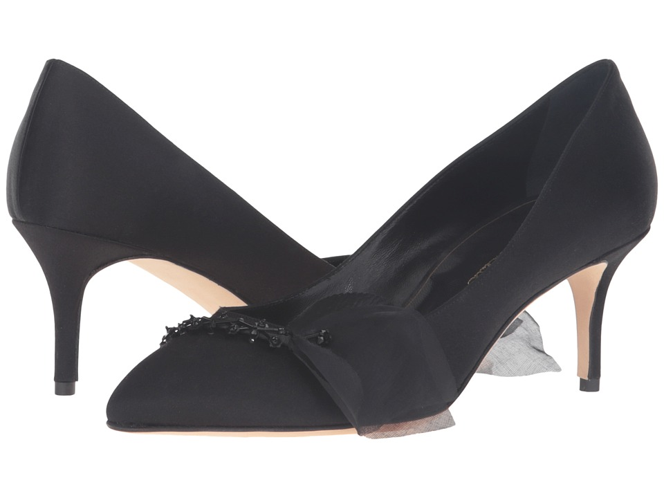 Oscar de la Renta - Koi 55mm (Black Satin) Women's Shoes