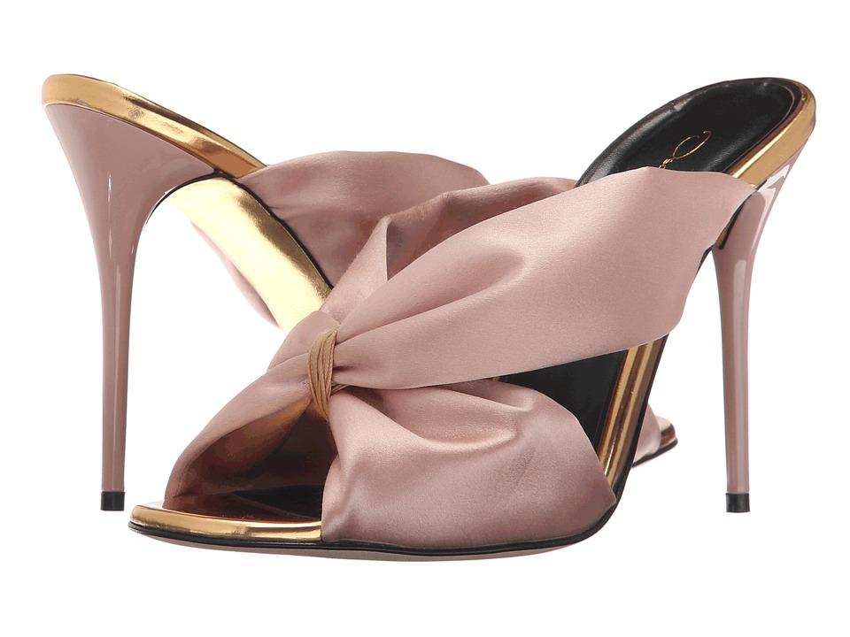 Oscar de la Renta - Sophia 100mm (Bisque Satin/Specchio) Women's Shoes