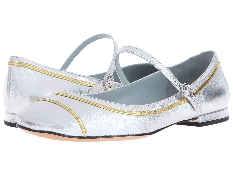 Marc Jacobs - Poppy Mary Jane Ballerina (Silver) Women's Ballet Shoes