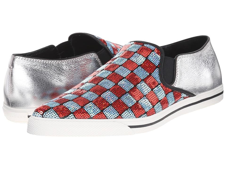 Marc Jacobs Delancey Slip-On Sneaker Aqua-Red Slip on Shoes