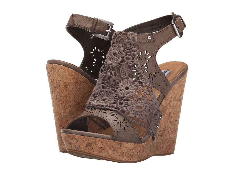 Not Rated - Candace (Taupe) Women's Wedge Shoes