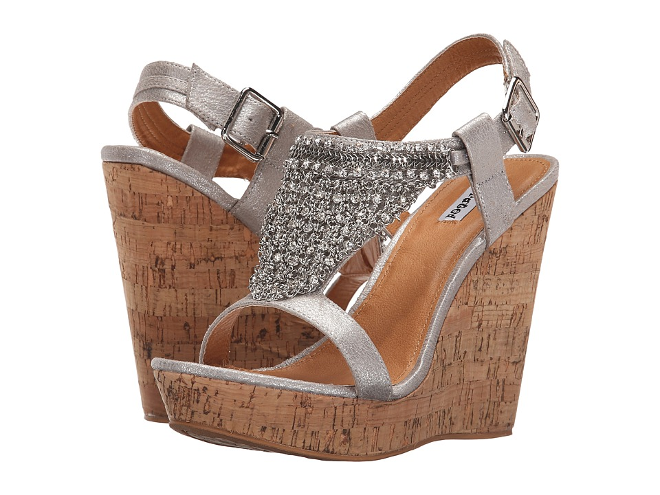 Not Rated - Tourmaline (Silver) Women's Wedge Shoes