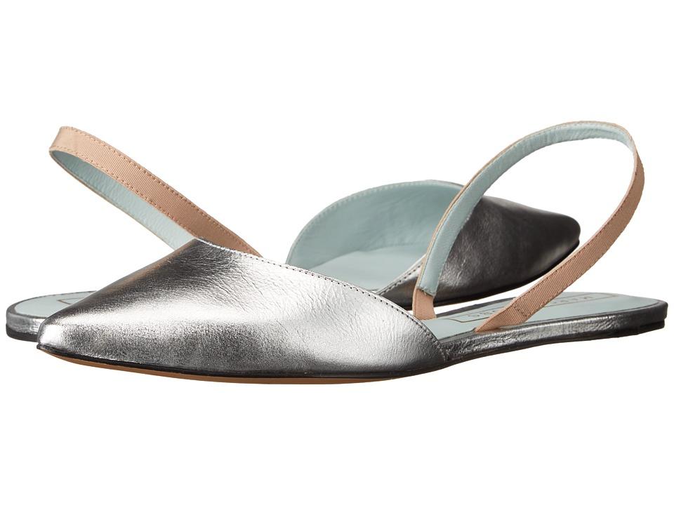 Marc Jacobs Joline Slingback Flat Silver Sling Back Shoes