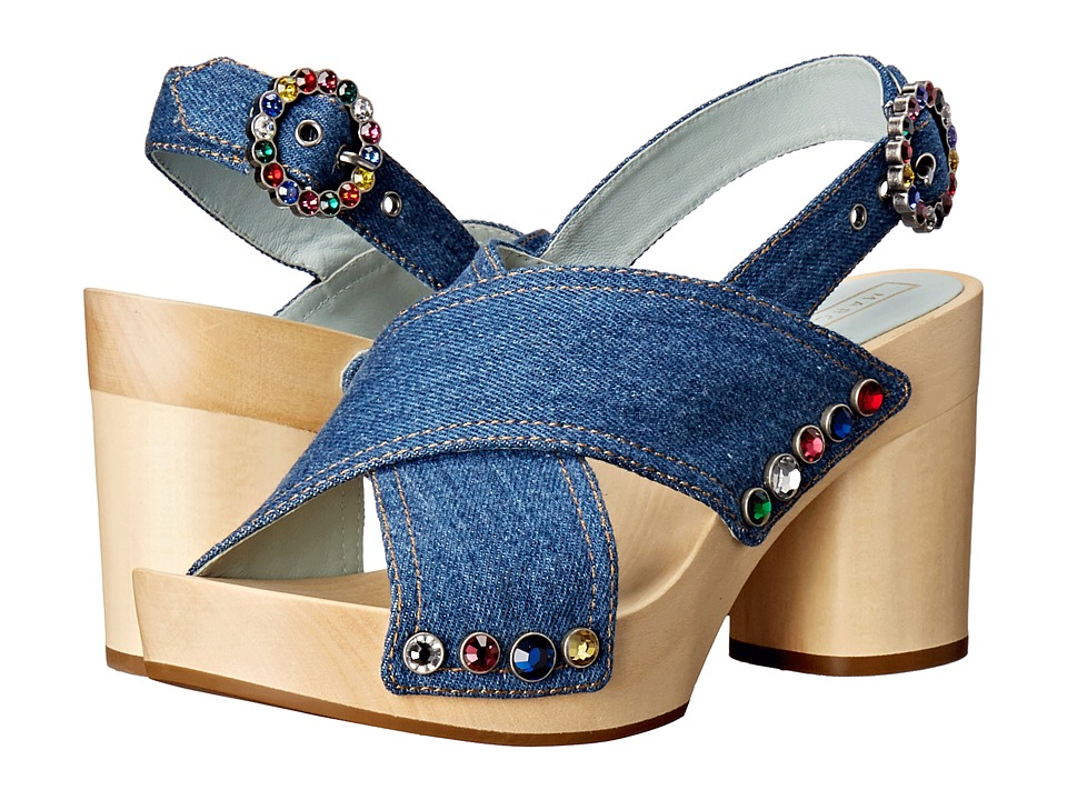 Marc Jacobs Linda Crisscross Sandal Clog (Denim) Women