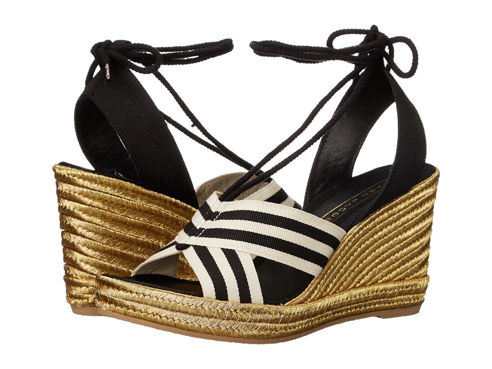 Marc Jacobs Dani Wedge Espadrille (Black/White) Women