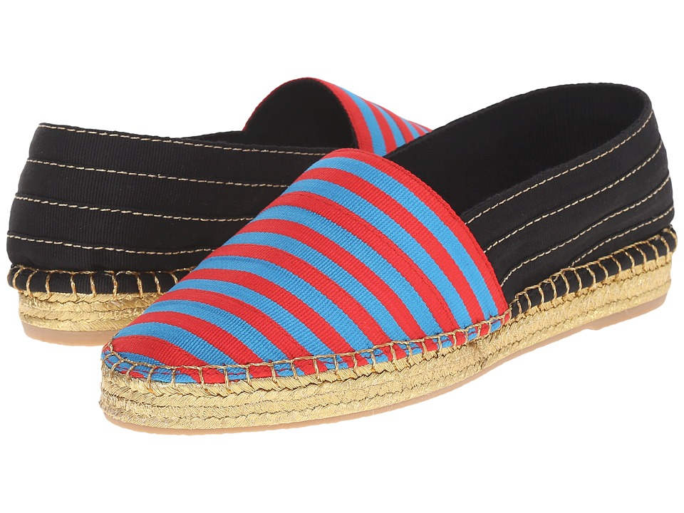 Marc Jacobs Sienna Flat Espadrille (Blue/Red) Women