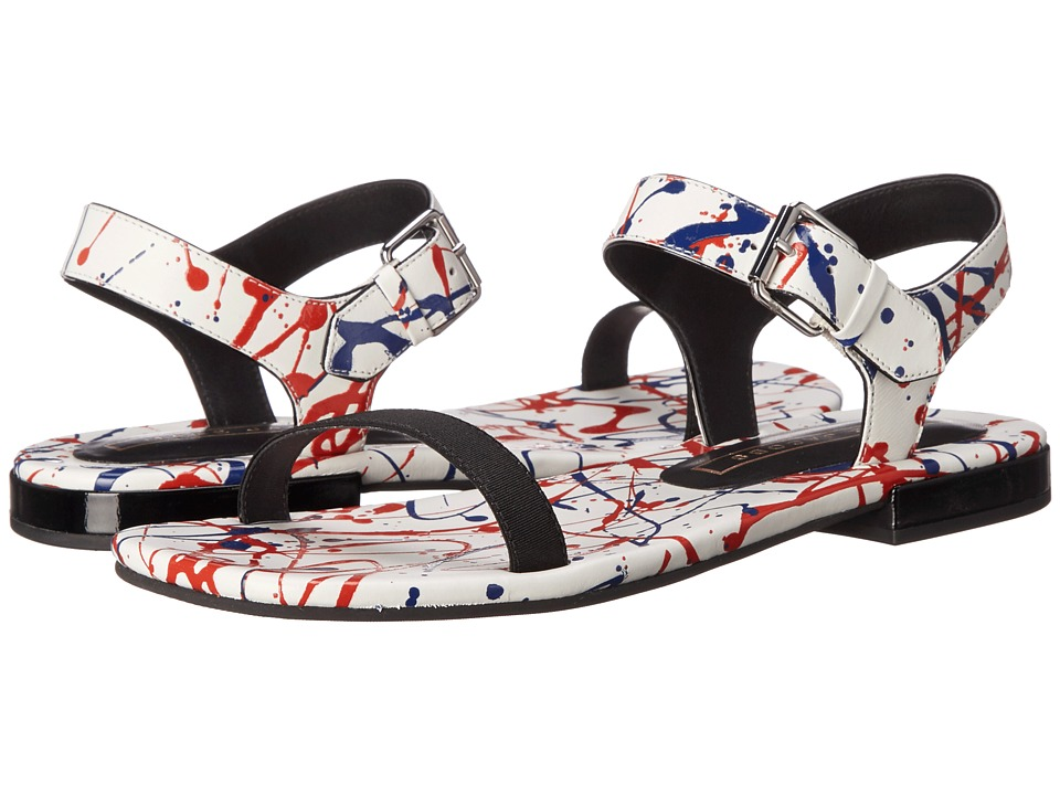 Marc Jacobs - Elizabeth Flat Sandal (White Multi) Women