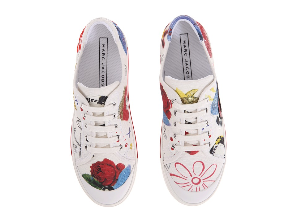 Marc Jacobs - Christy Pave Lace-Up Sneaker (Off-White Multi) Women's Lace up casual Shoes